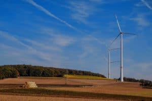 Fundo geradores eólicos