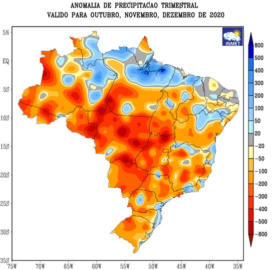 mapa de anomalias precipitação