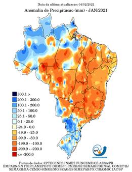 gráfico de anomalias climáticas