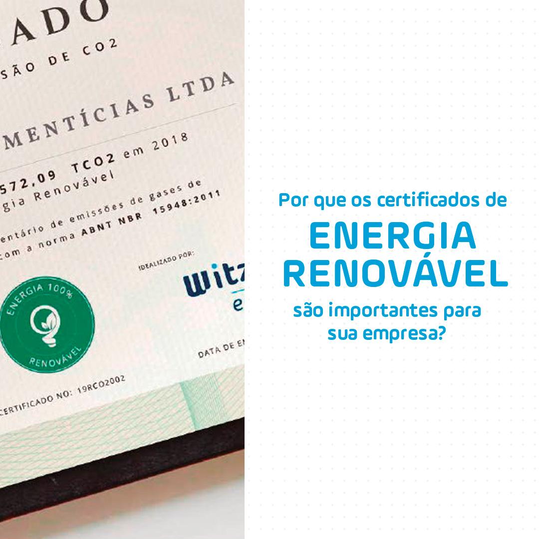Por que os certificados de energia renovável são importantes para sua empresa?